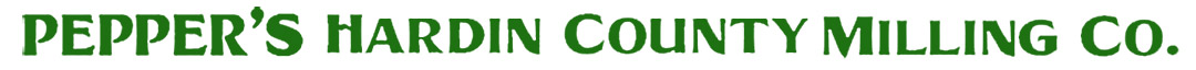 Pepper's Hardin County Milling Logo